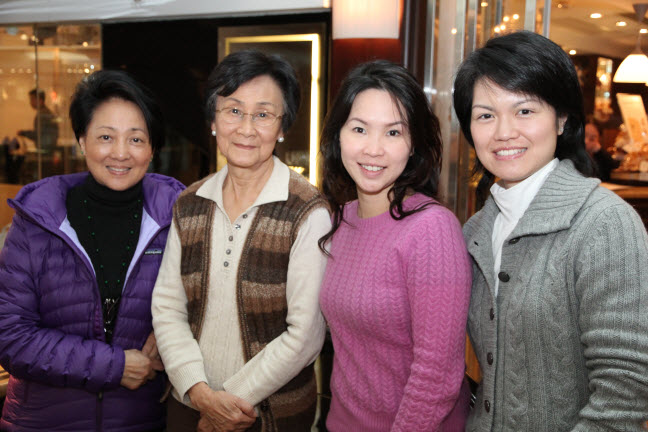 Mrs. Grace Lam, Mrs. Daphne Blomfield, Cindy Tong and Andrea Lai